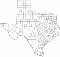 Location of Quintana, Texas