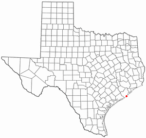 Quintana, Texas - Image: TX Map doton Quintana