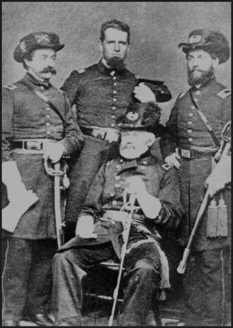 Thomas J. McKean - McKean and his staff during the American Civil War