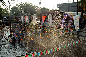 Taiwan Water Running Festival 2013, finishing line (Taiwan).jpg