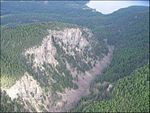 Tally Gorge and Tally Lake from the air (7204766590).jpg