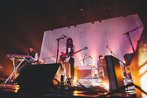 Currents (Tame Impala album) - Tame Impala performing in 2014.