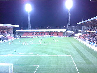 Tannadice Park - View of 'The Shed', with the George Fox Stand on the right and Jim McLean stand on the left