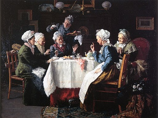 Tea Party (1905) by Louis Moeller