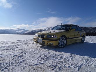 BMW M3 - Team GotOrgans E36 M3 in the Yukon, Canada, while on the Alcan Winter Rally