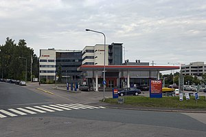 Munkkivuori - Teboil petrol station and Canon regional headquarters