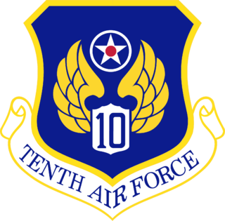 Tenth Air Force Numbered air force of the United States Air Force responsible for reserve air combat, special operations, training, and space forces