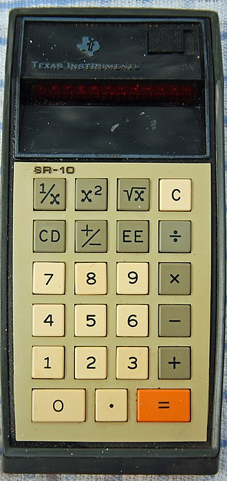 TI SR-50 - Image: Texas Instruments SR 10