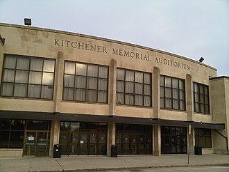 Kitchener Memorial Auditorium Complex - Image: The Aud