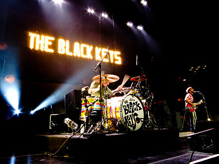 The Black Keys performing at Madison Square Garden in March 2012 The Black Keys at MSG 3-22-12.jpg