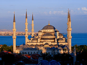 Religion in Turkey - The celebrated Sultan Ahmed Mosque, also known as the Blue Mosque, in Istanbul.