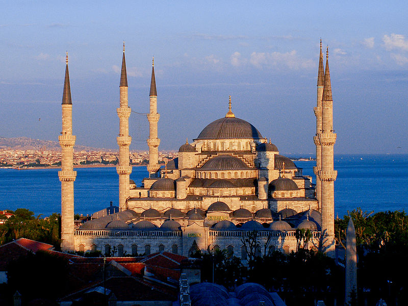 ملف:The Blue Mosque at sunset.jpg