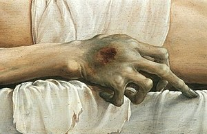 The Body of the Dead Christ in the Tomb - Detail