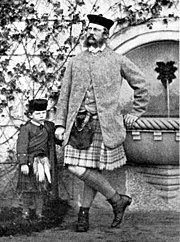 The Crown Prince of Prussia and Prince Wilhelm II. at Balmoral Castle. - Oct. 1863