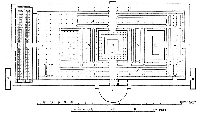PLAN OF THE BUILDING FOR THE FRENCH EXPOSITION IN 1849.