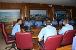 The Deputy Commandant and officers of INA briefed the Commanding Officer and Officers of INS Satpura on training processes involved in shaping future leadership at the INA, 2017.jpg