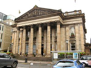 National Bank of Scotland - Former headquarters of the Commercial Bank of Scotland on George Street, Edinburgh, by architect David Rhind