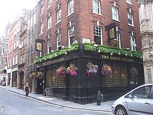 Edgar Wallace - The Edgar Wallace pub, Essex Street, off Strand, London