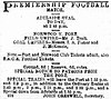 The Express and Telegraph (Adelaide) 5 October 1889 Premiership football match Norwood Port.jpg