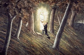 Joseph Smith - Smith said he received golden plates from the angel Moroni at the Hill Cumorah.