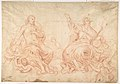 The Holy Trinity (recto); Studies of Seated Female Figures (the Virgin and another Saint?) (verso) MET DP810054.jpg