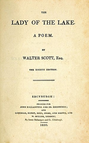 The Lady of the Lake (poem) - Title page to the eighth edition, 1810