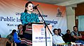 The MLA Hrangturzo Constituency, Chairperson Mizoram Women Commission, Smt. Vanlalawmpuii Chawngthu addressing the gathering at the Public Information Campaign, at Kanghmun South, Lunglei Dist of Mizoram on November 28, 2014.jpg