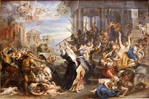 Massacre of the Innocents (Rubens) - Peter Paul Rubens. Massacre of the Innocents, 1636–38 (Alte Pinakothek).