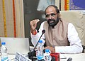 The Minister of State for Chemicals & Fertilizers, Shri Hansraj Gangaram Ahir addressing at the launch of the revamped website of Department of Pharmaceuticals, in New Delhi on September 23, 2015.jpg
