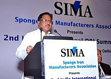 The Minister of State for Mines, Steel and Labour & Employment, Shri Vishnu Deo Sai addressing the SIMA conference, in New Delhi on August 01, 2014.jpg