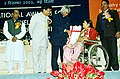 The President Dr. A.P.J. Abdul Kalam giving away the National Awards for the Welfare of Persons with Disabilities - 2003 in New Delhi on December 3, 2003 (Wednesday).jpg