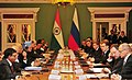The Prime Minister, Dr. Manmohan Singh and the President of the Russian Federation, Mr. Dmitry A. Medvedev, during the Indian and Russian CEOs meeting, in Moscow, Russia on December 16, 2011.jpg