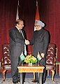 The Prime Minister, Dr. Manmohan Singh in a bilateral meeting with the Prime Minister of Pakistan, Mr. Nawaz Sharif, in New York on September 29, 2013 (1).jpg