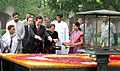 The Prime Minister of Socialist Republic of Vietnam, Mr. Nguyen Tan Dung paying floral tributes at the Samadhi of Mahatma Gandhi at Raj Ghat, in Delhi on July 06, 2007.jpg
