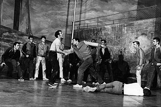 West Side Story - Tony stabs Bernardo in the 1957 Broadway production.