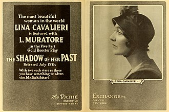 Lina Cavalieri - The Shadow of Her Past  (1916)