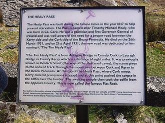 R574 road (Ireland) - Historical information plaque
