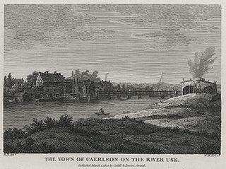 The Town of Caerleon on the River Usk