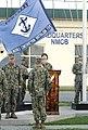 The U.S. Naval Mobile Construction Battalion (NMCB) 5 command colors are lowered during a change of charge ceremony with NMCB-3 on Camp Shields in Okinawa, Japan Aug. 18, 2013, after an eight-month deployment 130818-N-SD120-002.jpg