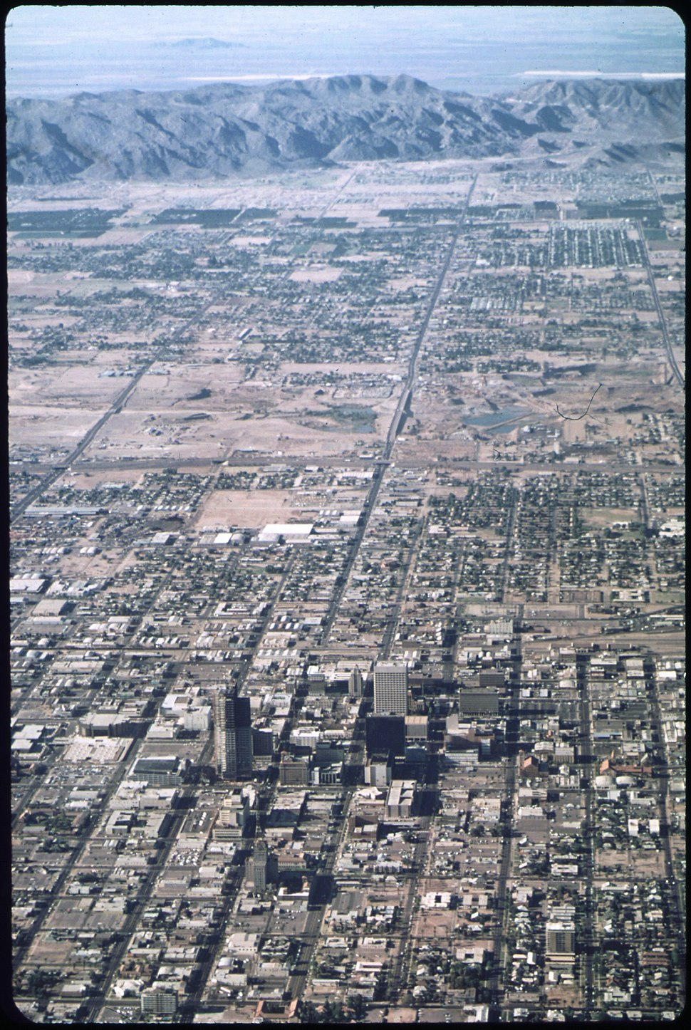 The View of Phoenix's Urban Sprawl from 4000 Ft. South Mountain in Background , 6 1972