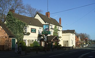 Wombourne - The Vine, a pub on the edge of Wombourne village opposite the police station