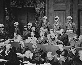 Nuremberg trials - Defendants listening to translated evidence through headphones