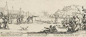 Les Grandes Misères de la guerre - Image: The firing squad by Jacques Callot