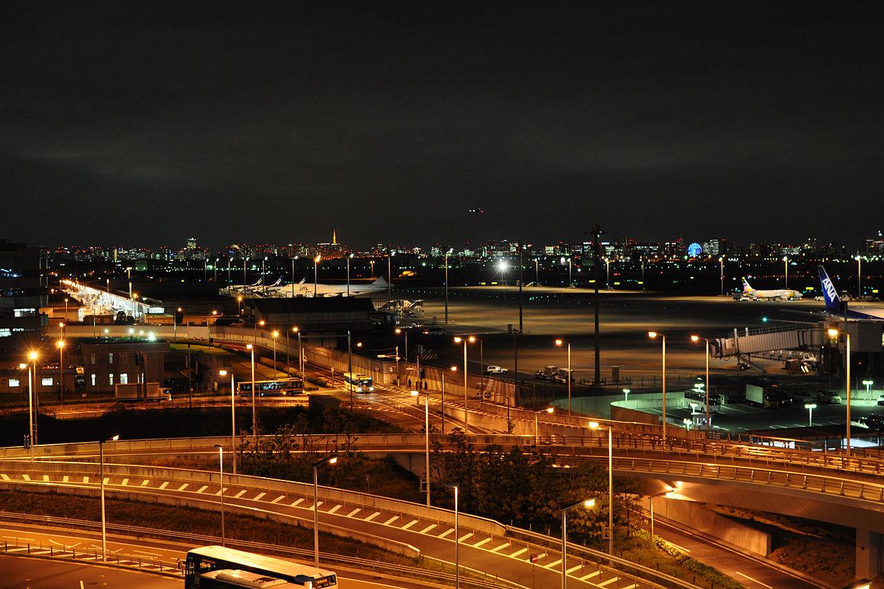 File The Night View Of Haneda Airport Terminal 2