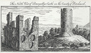 The north view of Brwynllys Castle in the county of Brecknock