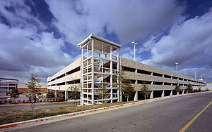 The Parks at Arlington - One of the Parking decks at The Parks.