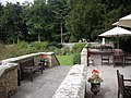 The patio at Headlam Hall - geograph.org.uk - 1515199.jpg