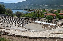 The small Theatre of Epidaurus, dated to 4th century BC, Ancient Epidaurus Village (13928612751).jpg