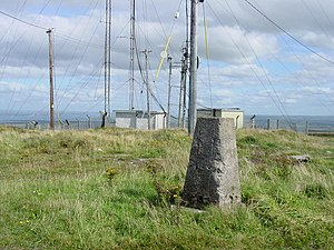 Knockanore Mountain - The trig point on Knockanore Mountain