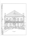 Thebes Courthouse, Thebes, Alexander County, IL HABS ILL,2-THEB,1- (sheet 1 of 7).png